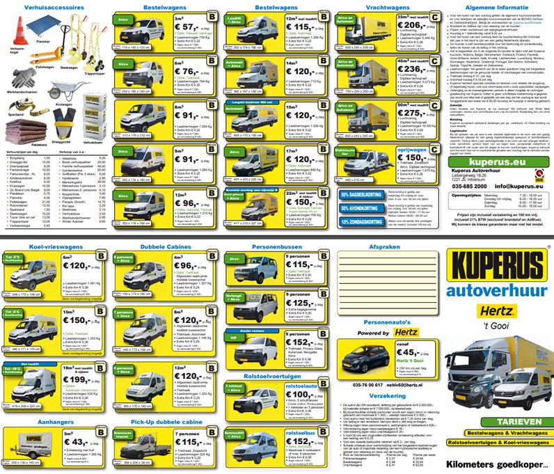 brochure/tarievenlijst